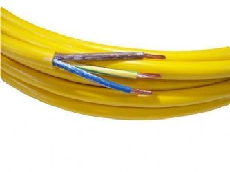 10m cutting only of 3 core 6mm yellow arctic flex